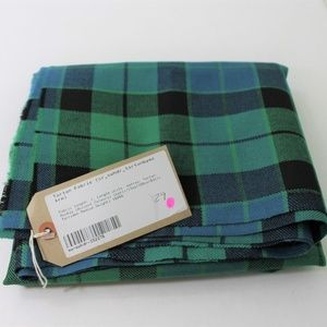 New Tartan Fabric Blue Black Green Plaid Scotland